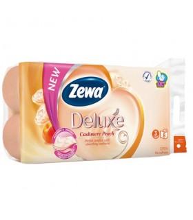 Hartie igienica 3 straturi /8 role Zewa Deluxe Cashmere Peach