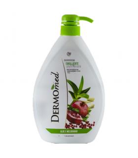 Gel de dus cu dispenser, Dermomed, Aloe and Pomegranate, 1000 ml