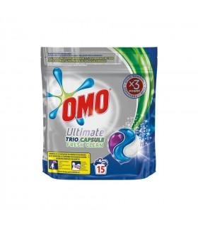 Detergent Omo Ultimate Fresh Clean Trio Caps, 15 capsule