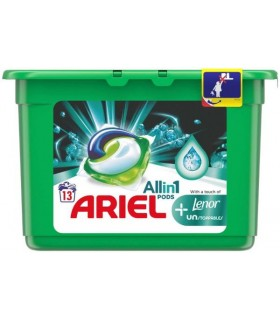Detergent Ariel All in One Pods Plus Unstoppable, capsule, 13 buc