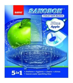 Odorizant toaleta SANO BON, Blue Apple, 5 in 1, solid, 55 g.