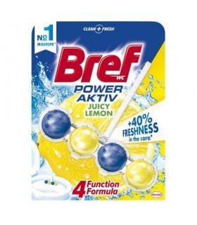 Odorizant toaleta Bref Power Aktive Lemon, 50 g