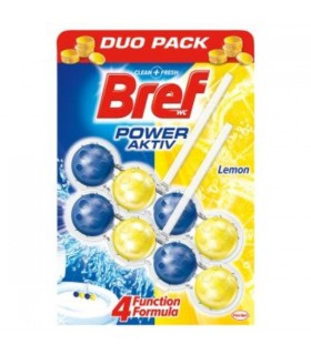 Odorizant toaleta Bref Bile  2x50 gr Power Aktive Lemon