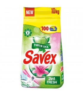 Detergent Automat Savex, Lock, 2 in 1 Fresh, 10 kg