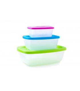 Set de caserole pentru alimente din plastic, 3 buc