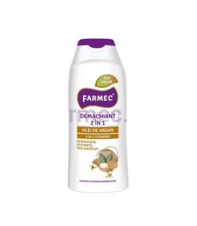 Demachiant 2 în 1 cu Argan, Farmec  200 ml