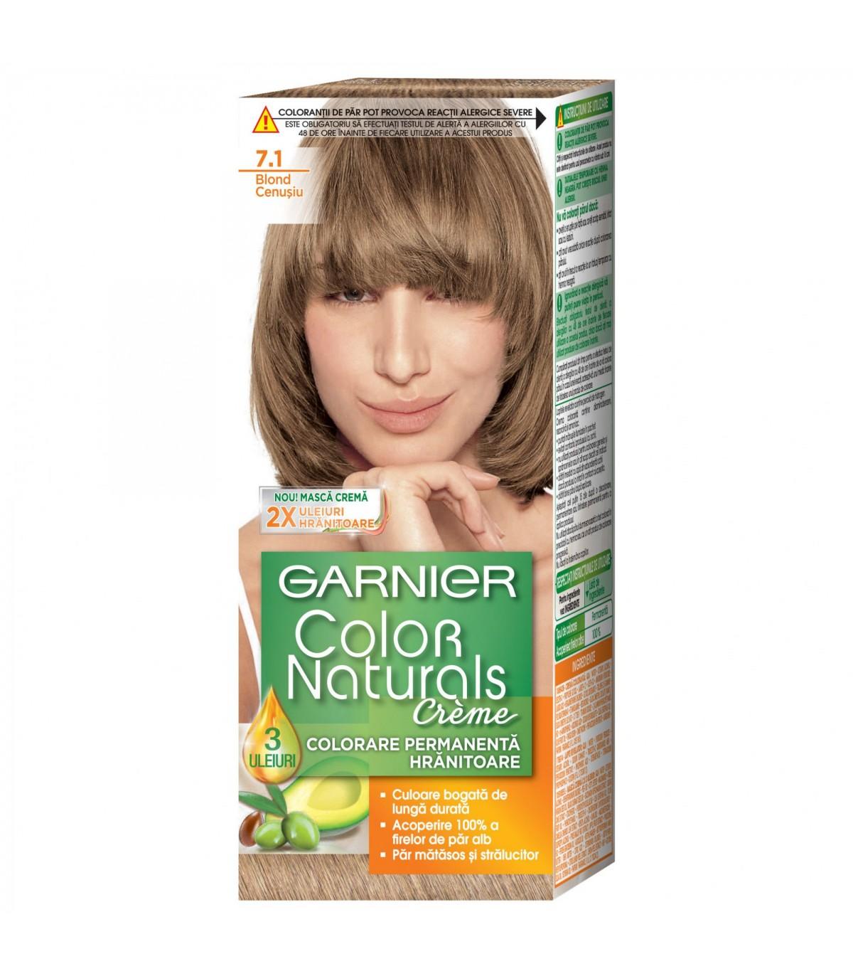 Vopsea De Par Garnier Color Naturals 71 Blond Cenusiu 110 Ml