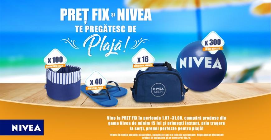 PREȚ FIX și NIVEA te pregătesc de plajă!