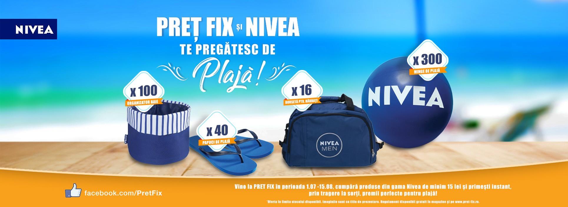 PRET FIX și NIVEA te pregătesc de plajă!